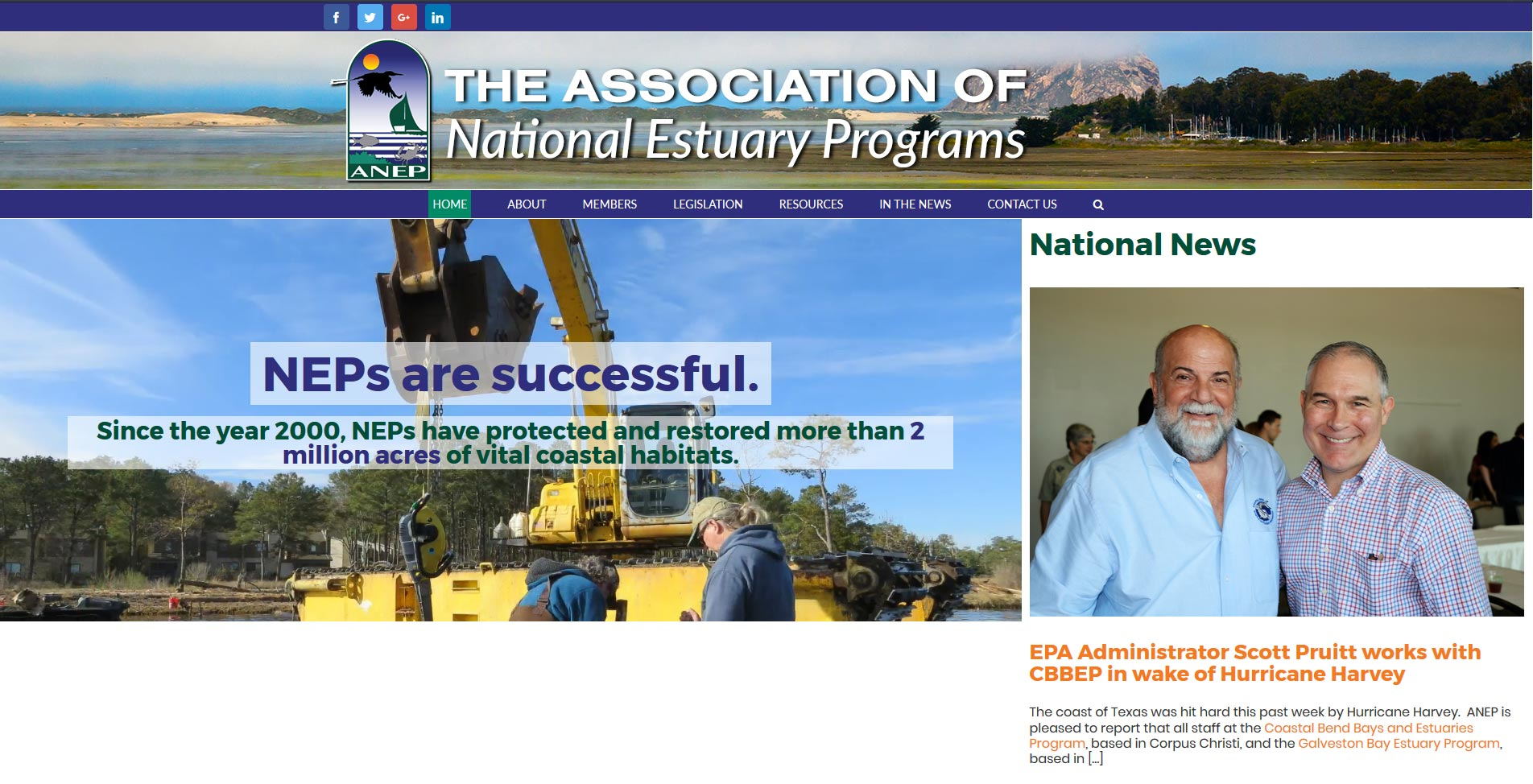 The Association of National Estuary Programs